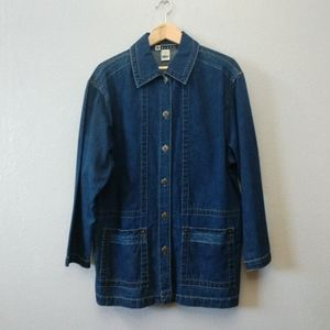 Vintage BLAST Denim Button Down Tunic Jacket Top